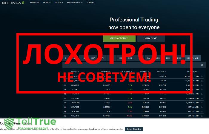 Bitfinex – отзывы