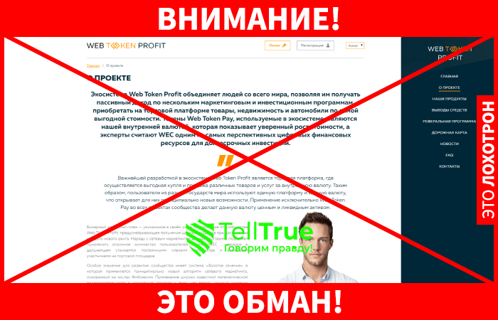 Web Token Profit обман