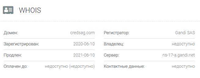 информация о домене Credit Royal Group