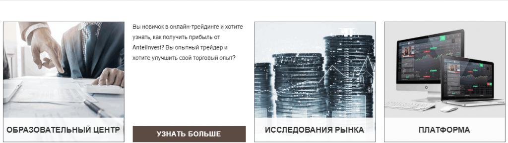 Информация о заработке AnteiInvest