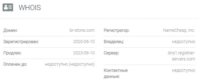 Информация о домене Barclay Stone