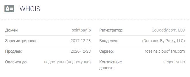 информация о домене PointPay