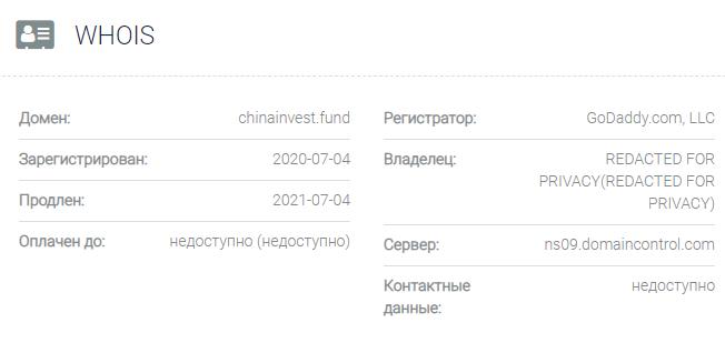 Информация о домене China Invest Fund