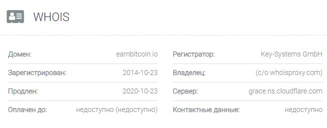 информация о домене EarnBitcoin.io