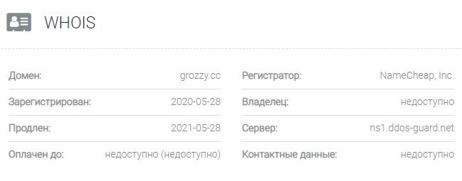 Информация о домене Grozzy