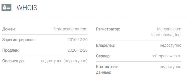 Информация о домене ИСИР