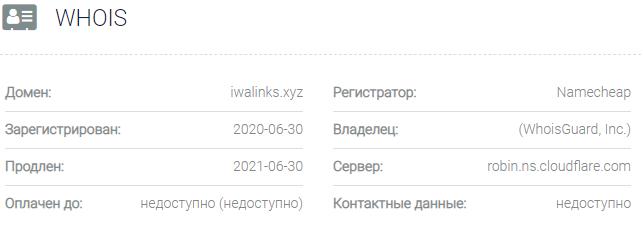 Информация о домене Iwalinks