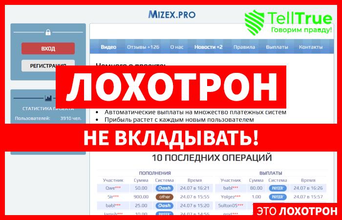 Mizex.pro – отзывы