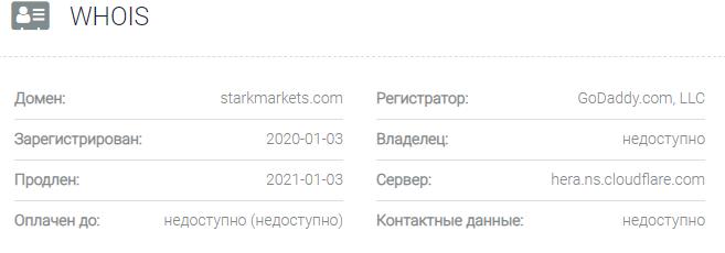 Информация о домене Stark Markets