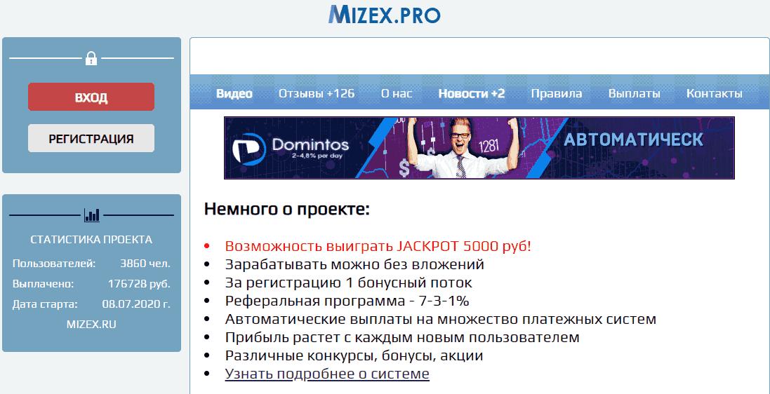 главная Mizex.pro