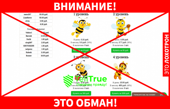 Honey Bees лохотрон