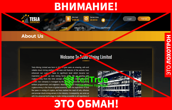Tesla Mining обман