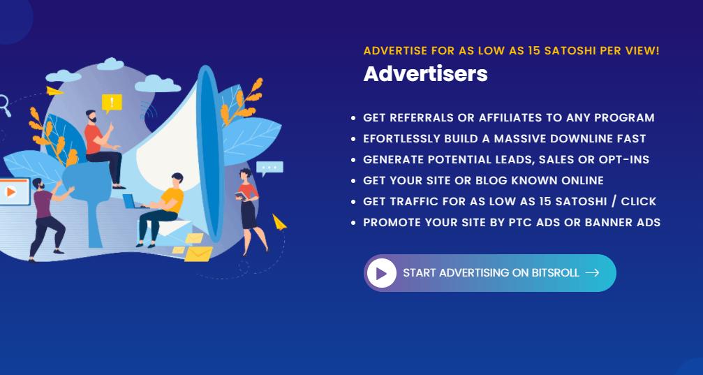 Bitsroll информация о рекламе