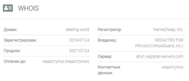 Информация о домене Dealing World