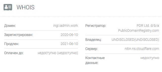 Информация о домене Ingl