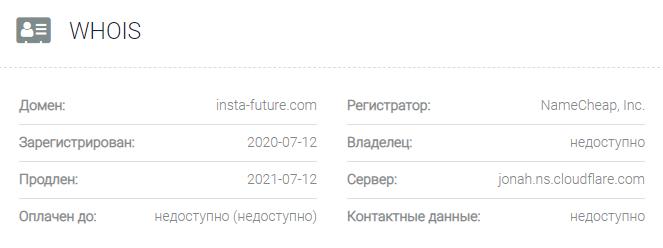 Информация о домене Insta Future