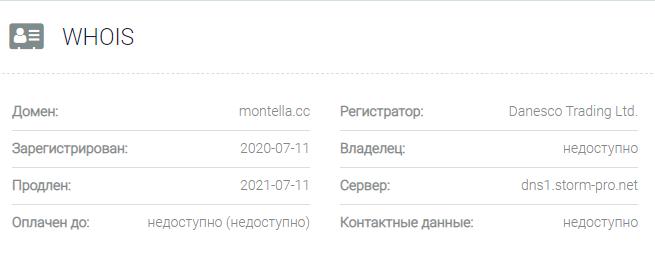 Информация о домене Montella