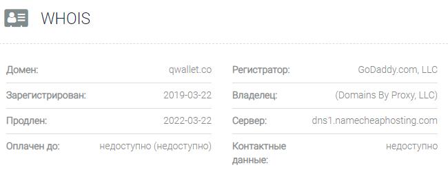 Информация о домене Qwallet