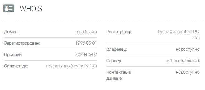 Информация о домене Renessans