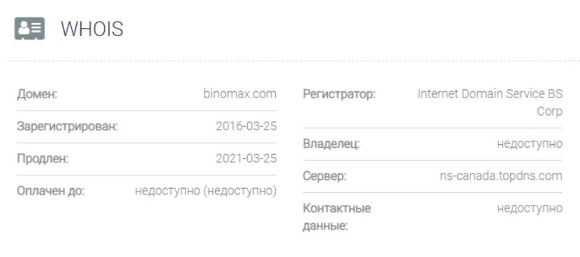 Binomax - контакты