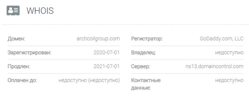 ArcticOilGroup - основные данные