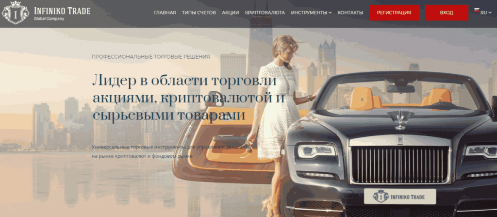 Infiniko Trade - сайт компании