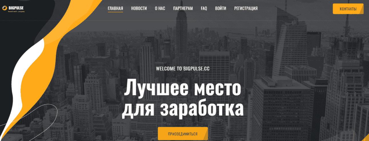 Bigpulse - сайт компании