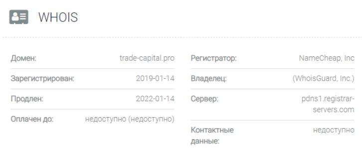 Trade Capital - основные данные
