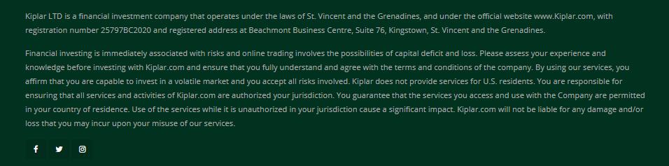 Kiplar - юридические аспекты