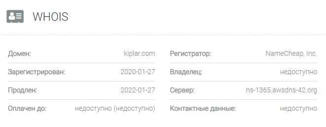 Kiplar - основные данные
