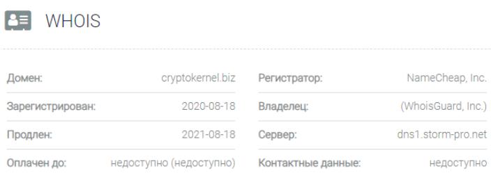 Crypto Kernel - основные данные