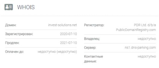 Invest Solutions - основные данные