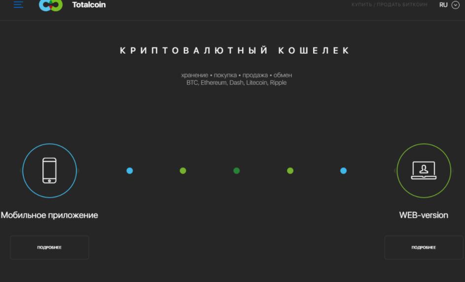 Totalcoin - сайт компании