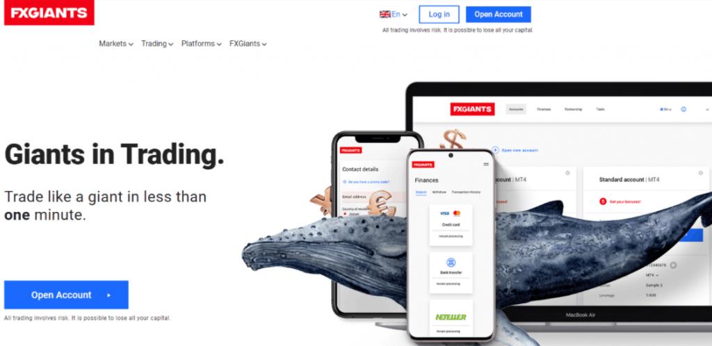 FXGiants - сайт компании