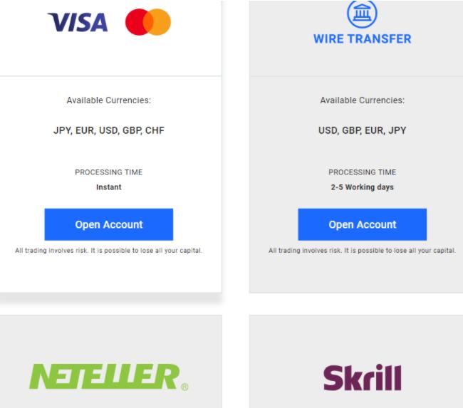 FXGiants - платежные системы