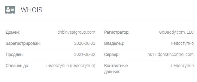 DNB Invest Group - основные данные