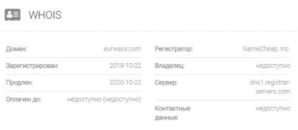 Eurwaxs - основные данные