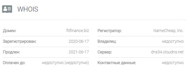 Информация о домене BENEFIT FINANCE