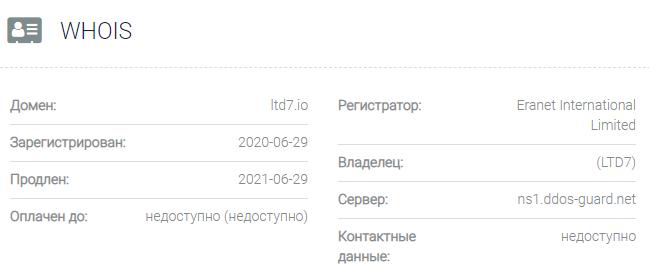 Информация о домене Ltd7
