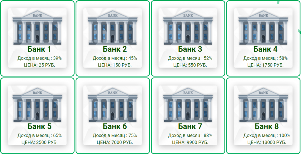 Money-Banks тарифы