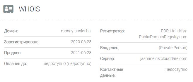 Информация о домене Money-Banks