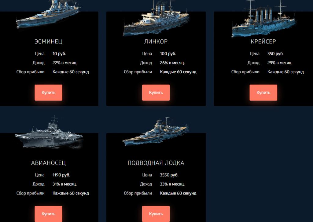Vessel-War тарифы