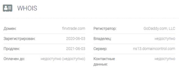 FinxTrade - основные данные