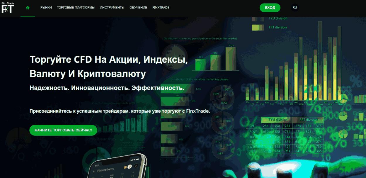FinxTrade - сайт компании