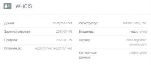 TrustyMax - основные данные