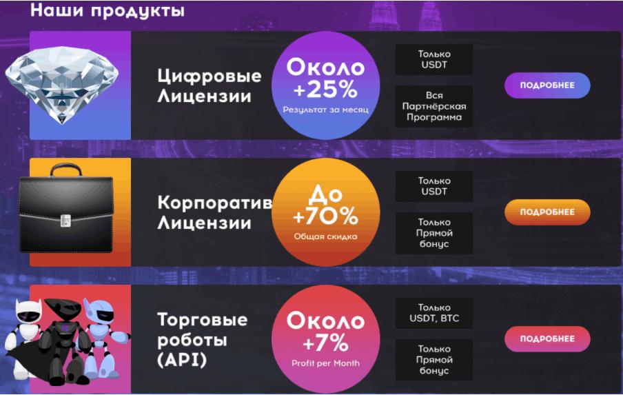 QubitTech - предложения