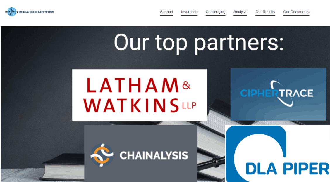 Chainhunter - сайт компании