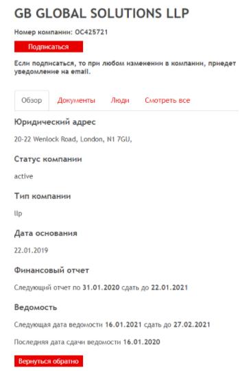 Lottoviva - регистрация фирмы