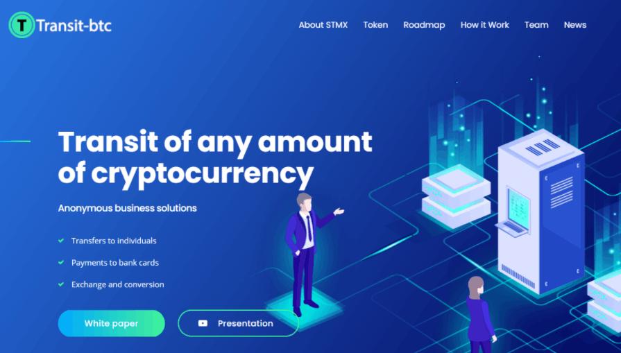 Transit-btc - сайт компании