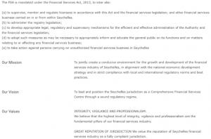 FSA - Сейшельский финансовый регулятор